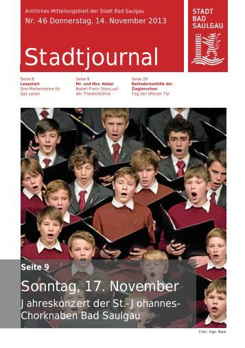 Stadtjournal Ausgabe 46/2013 - Stadt Bad Saulgau