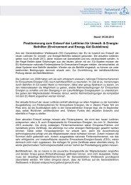 Positionierung zum Entwurf der Leitlinien für Umwelt- & Energie ...