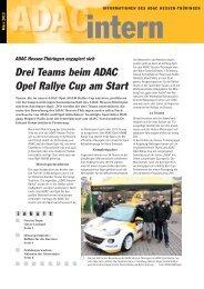 Drei Teams beim ADAC Opel Rallye Cup am Start - ADAC Ortsclub ...