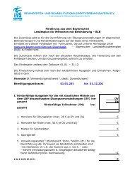 behinderten- und rehabilitations-sportverband bayern ev