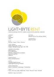 Laden Sie hier die aktuelle Mietpreisliste als PDF ... - Light + Byte AG