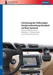 Umrüstung der Volkswagen Handyvorbereitung ... - Bury.com