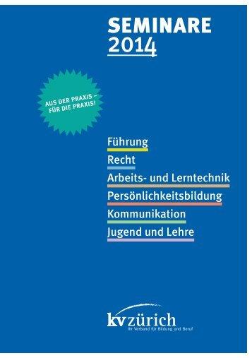 Seminarprogramm 2014 - Kaufmännische Verband Zürich