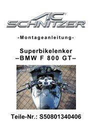 Superbikelenker –BMW F 800 GT– Teile-Nr ... - AC Schnitzer