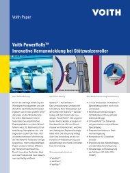 Voith PowerRollsTM Innovative Kernanwicklung bei Stützwalzenroller