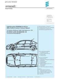 Aufrüstung der HYDRONIC D 5 W Z im OPEL Vectra C/ Vectra C ...