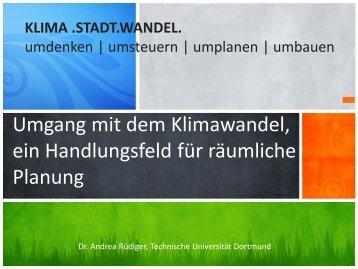 Umgang mit dem Klimawandel, ein Handlungsfeld für ... - SRL