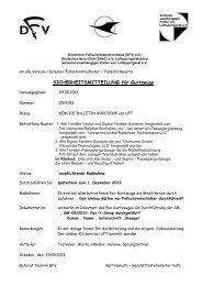 SICHERHEITSMITTEILUNG für Gurtzeuge - DFV