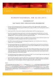 Bundestagswahl 2013 - Stadt Dortmund