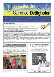 Bundestagswahl 2013 - Gemeinde Dettighofen