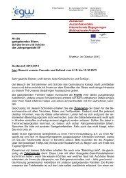 Elternbrief zum Besuch der estnischen Gäste - Ev. Gymnasium ...