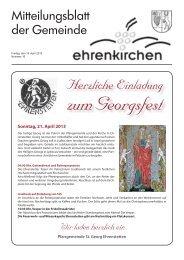 Herzliche Einladung - Gemeinde Ehrenkirchen