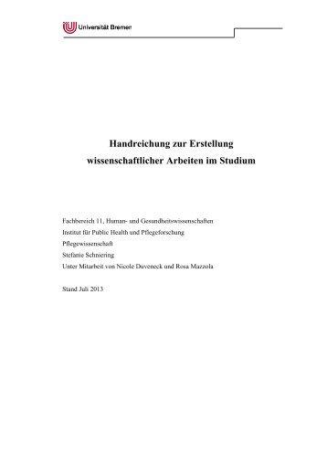 Handreichung zum Wissenschaftlichen Arbeiten - Fachbereich 11 ...