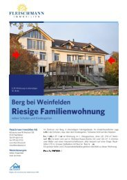 Objektdossier (3 MB) - Fleischmann Immobilien AG