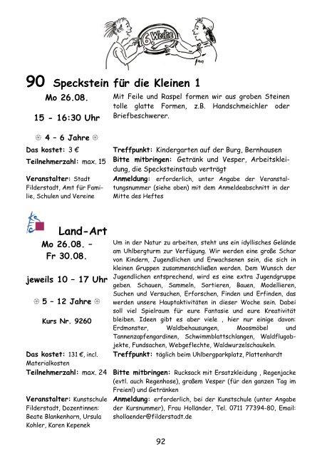Angebote Woche 6 - Stadt Filderstadt