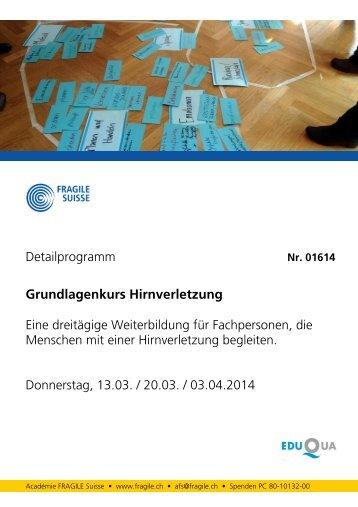 Detailprogramm (PDF) - Fragile Suisse