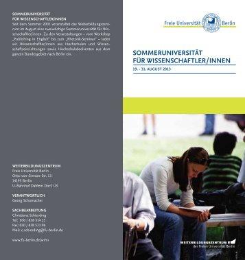 Sommeruni 2013, pdf - Freie Universität Berlin