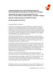 Landespressekonferenz der Gewerkschaft Erziehung und ...