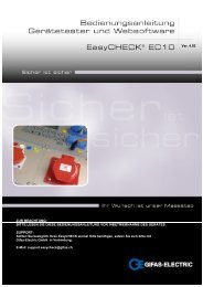 Manual Easycheck EC10 - GIFAS-ELECTRIC GmbH