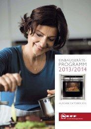 Neff Geräteprogramm 2014