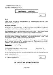 149/2013 - des Main-Kinzig-Kreises