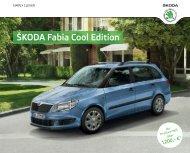 Fabia Cool Edition Broschüre/Preisliste - Skoda Auto Deutschland ...