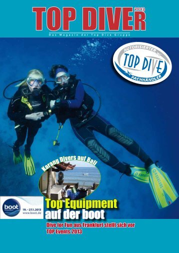 Top Equipment auf der boot - TOP-DIVE