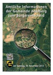 Amtliche Informationen der Gemeinde Adelberg zum Bürgerentscheid