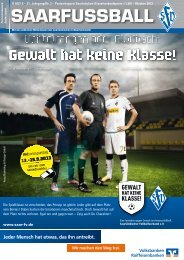 Gewalt hat keine Klasse - Saarländischer Fußballverband e.V.