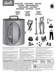 instructions mode d'emploi anleitung istruzioni ... - Mattel
