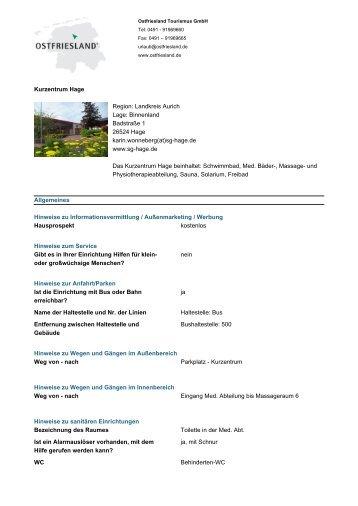 Ausführliche Informationen herunterladen - Ostfriesland Tourismus ...