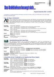 Präventionsprogramm und Anmeldung September 2013 ... - Akademie