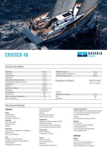 bavaria cruiser 46 – pl 01-2014 - Allert Marin GmbH