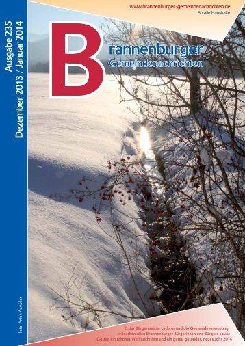 A usgabe 235 D ezem ber 2 013 / Januar 2 014 - Brannenburg