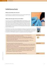 Infektionsschutz Die Mitarbeiterinnen und Mitarbeiter können ...
