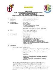 Neufassung 2013/14 Ausschreibung für das 15 ... - Die Kattfiller