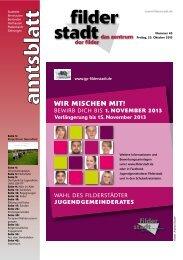 Amtsblatt KW 43.pdf - Stadt Filderstadt