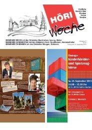 Jahrgang 12 Nr. 39 Freitag, den 27. September 2013 - Gaienhofen