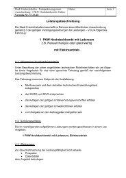 Leistungsbeschreibung 1 PKW Hochdachkombi ... - Friedrichshafen