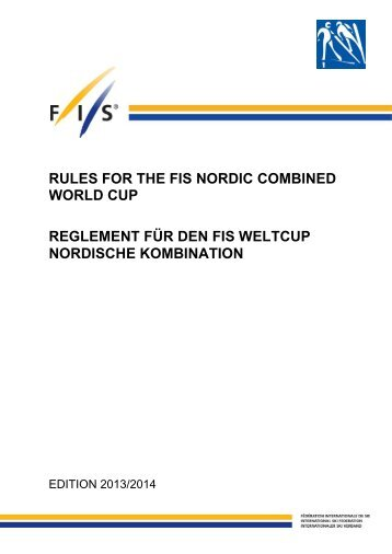 rules for the fis nordic combined world cup reglement für den fis ...