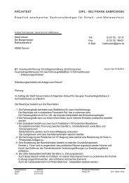 Anschreiben Stadt Greven Projektbeschreibung zu Feuerwache