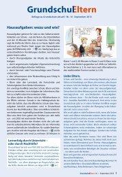 Hausaufgaben: wozu und wie? - Grundschulverband