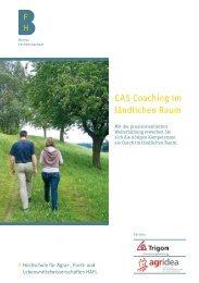 Flyer CAS Coaching - HAFL - Berner Fachhochschule