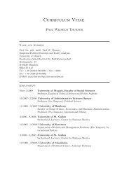 english_cv - Geschwister-Scholl-Institut für Politikwissenschaft - LMU