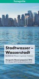 Programm und Inhalte der Vorträge des ... - Hansgrohe