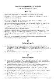 1. Grundordnung der Hochschule Hannover