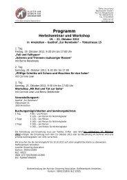 Programm vom Demonstrations-Seminar und ... - Hundewelt.at