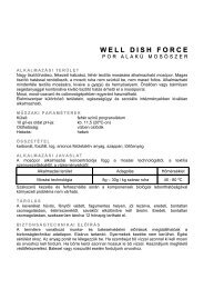 well dish force - Hungaro Chemicals Kft.