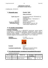 Combi Grill - Hungaro Chemicals Kft.