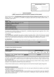 A Hungaropharma Zrt. 2012. augusztus 06-tól hatályos Standard ...